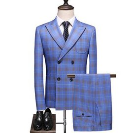 Mode plaid costumes costume de mariage printemps 5xl
