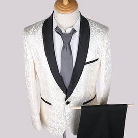 Slim blanc hommes costumes pour mariage tuxedos hommes