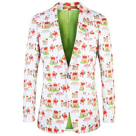 Conceptions hommes costume floral manteau grande taille hommes