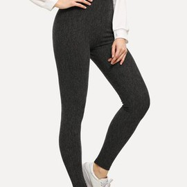 Leggings taille haute unicolore moulant