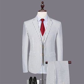 Hommes costumes blanc marié slim fit mariage robe costume hommes