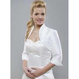 Brillant taffetas blanc chic bolero simple