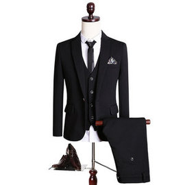 Noir costume smokings slim fit costume qualité