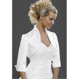 Taffetas blanc vintage bolero simple adorable