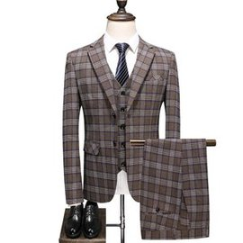 Costume homme 5xl affaires blazers boutonnage imprimé plaid