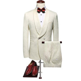 Grande taille de smoking mariage slim fit business imprimé