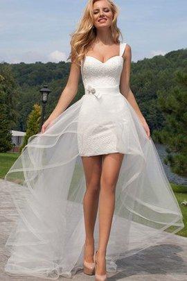 Robe de mariée nature bref col en forme de cœur ceinture avec ruban
