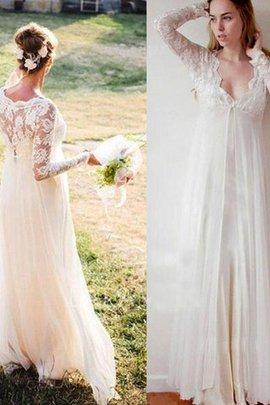 Robe de mariée longueur au ras du sol v encolure ceinture haut spécial naturel