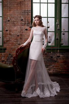 Robe de mariée nature naturel textile en tulle de traîne mi-longue de fourreau
