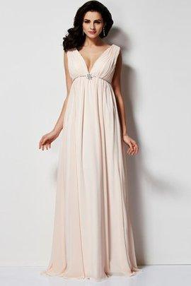 Robe de soirée plissé manche nulle v encolure de princesse sans dos
