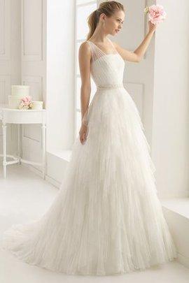 Robe de mariée luxueux simple avec zip avec perle bandouliere spaghetti