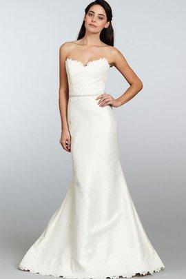 Robe de mariée en dentelle avec perle de traîne courte ligne a sans dos