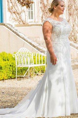 Robe de mariée formelle en tout plein air jusqu'au sol en grandes tailles sans empire