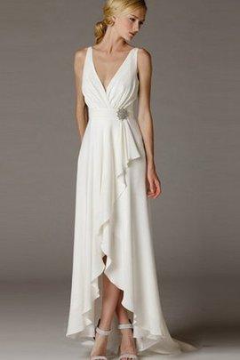 Robe de mariée naturel nature manche nulle maillot ruché