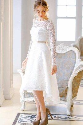 Robe de mariée delicat cordon en satin en dentelle a-ligne