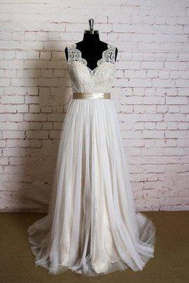 Robe de mariée simple décontracté serieuse sans dos ceinture