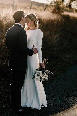 Robe de mariée charmant de lotus avec manche longue de fourreau naturel