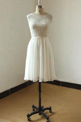Robe de mariée informel simple de longueur à genou a-ligne avec chiffon