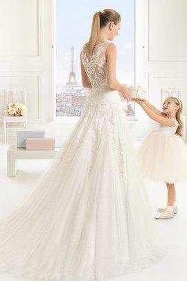 Robe de mariée naturel officiel luxueux en chute en tout plein air