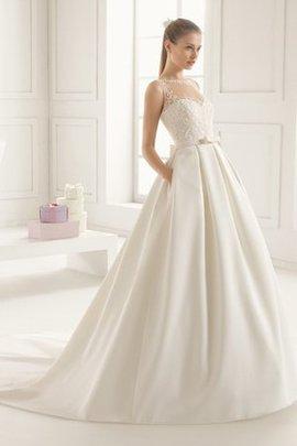 Robe de mariée formelle à la mode naturel boutonné avec sans manches