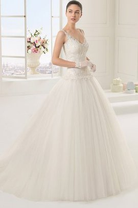 Robe de mariée en dentelle a eglise de lotus sans dos v encolure