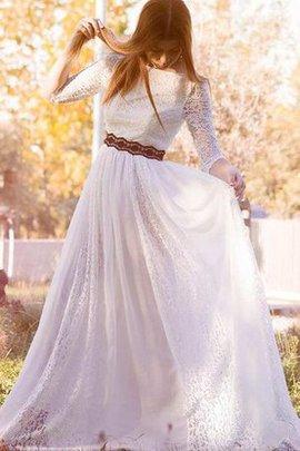 Robe de mariée classique plissage avec zip de col bateau de traîne courte
