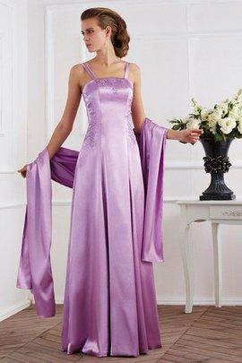 Robe mère de mariée avec zip bretelles spaghetti manche nulle avec perle ligne a
