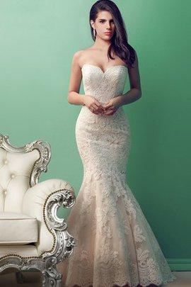 Robe de mariée delicat attirent classique de sirène de traîne moyenne