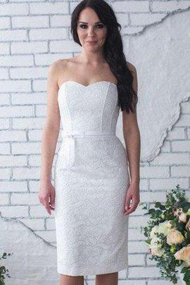 Robe de mariée sexy naturel simple manche nulle col en forme de cœur