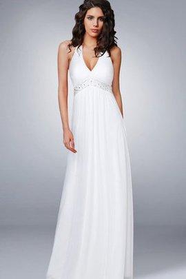 Robe de mariée longue charmeuse vintage plissage de dos nu
