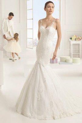 Robe de mariée plissage humble en dentelle de sirène dans l'eglise