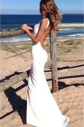 Robe de mariée attirent manche nulle noeud en plage col ras du cou