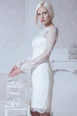 Robe de mariée modeste en dentelle cordon elevé noeud
