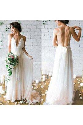 Robe de mariée sexy à la mode avec gradins bandouliere spaghetti collant
