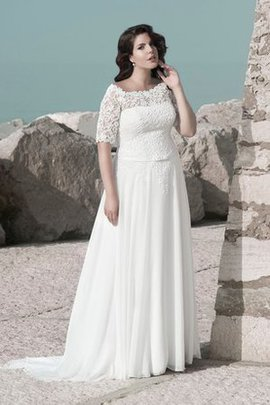 Robe de mariée encolure ronde boutonné a plage d'epaule ajourée encolure en carré
