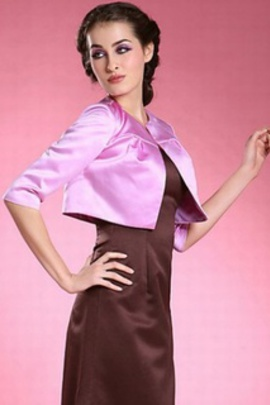 Onirique violet vintage taffetas | timeless bolero simple - photo 2
