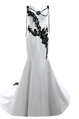 Robe de mariée brillant intemporel branle de traîne moyenne couvert de dentelle