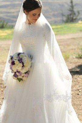 Robe de mariée plissé informel appliques avec sans manches fermeutre eclair