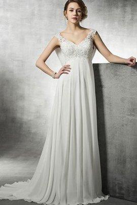 Robe de mariée décontracté facile elégant de traîne moyenne boutonné