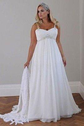 Robe de mariée plissage romantique facile ligne a avec lacets