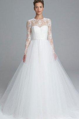 Robe de mariée poches broder de mode de bal avec décoration dentelle ligne a