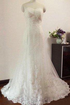 Robe de mariée en tulle de sirène jusqu'au sol noeud col en forme de cœur