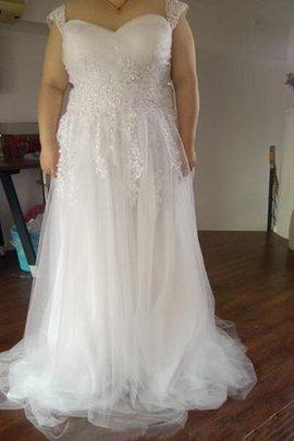 Robe de mariée vintage decoration en fleur fermeutre eclair en tulle avec perle