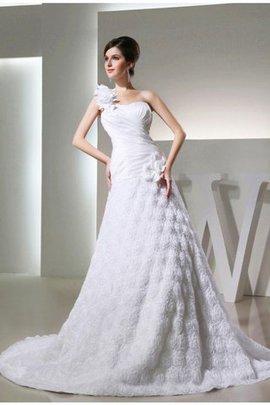 Robe de mariée longue cordon ligne a en taffetas manche nulle