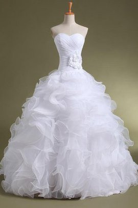 Robe de mariée avec perle cordon en organza en satin de mode de bal