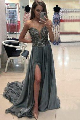 Robe de soirée a-ligne de princesse de traîne courte merveilleux naturel