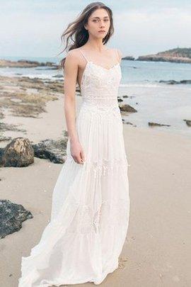 Robe de mariée manche nulle de traîne courte avec chiffon au bord de la mer sans dos