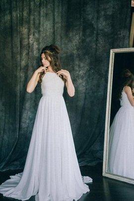 Robe de mariée facile distinguee plissé au bord de la mer en dentelle