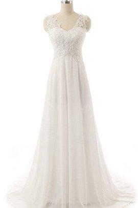 Robe de mariée vintage facile noeud broder boutonné