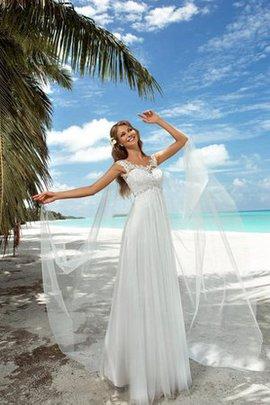 Robe de mariée plissage avec lacets longueur au niveau de sol col u profond de col en v